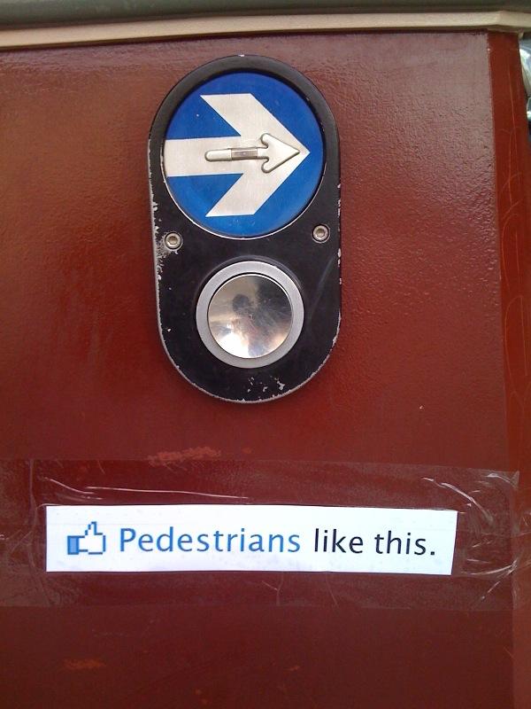 Pedestrians like this.