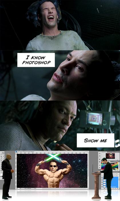 I know photoshop