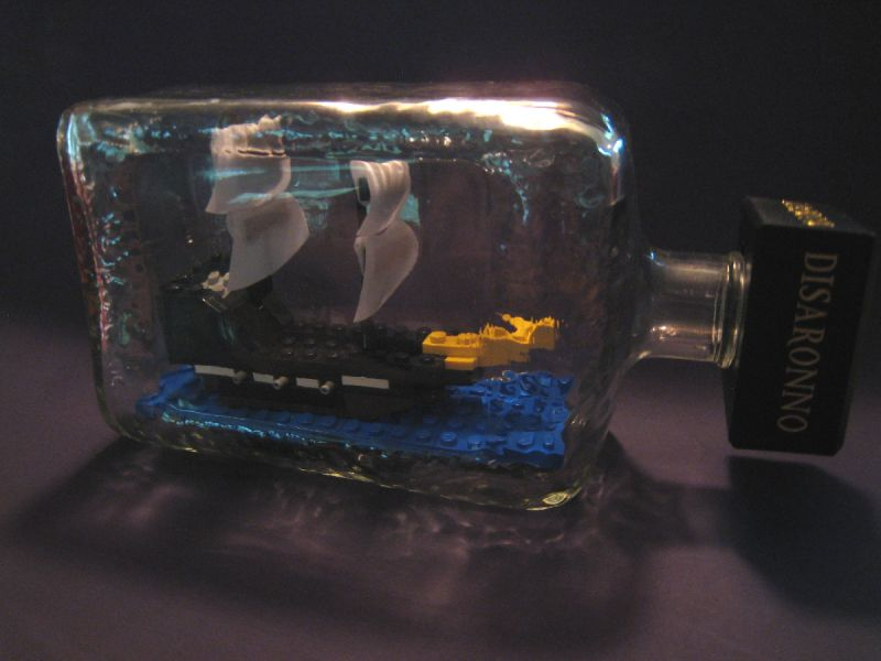 lego ship in bottle