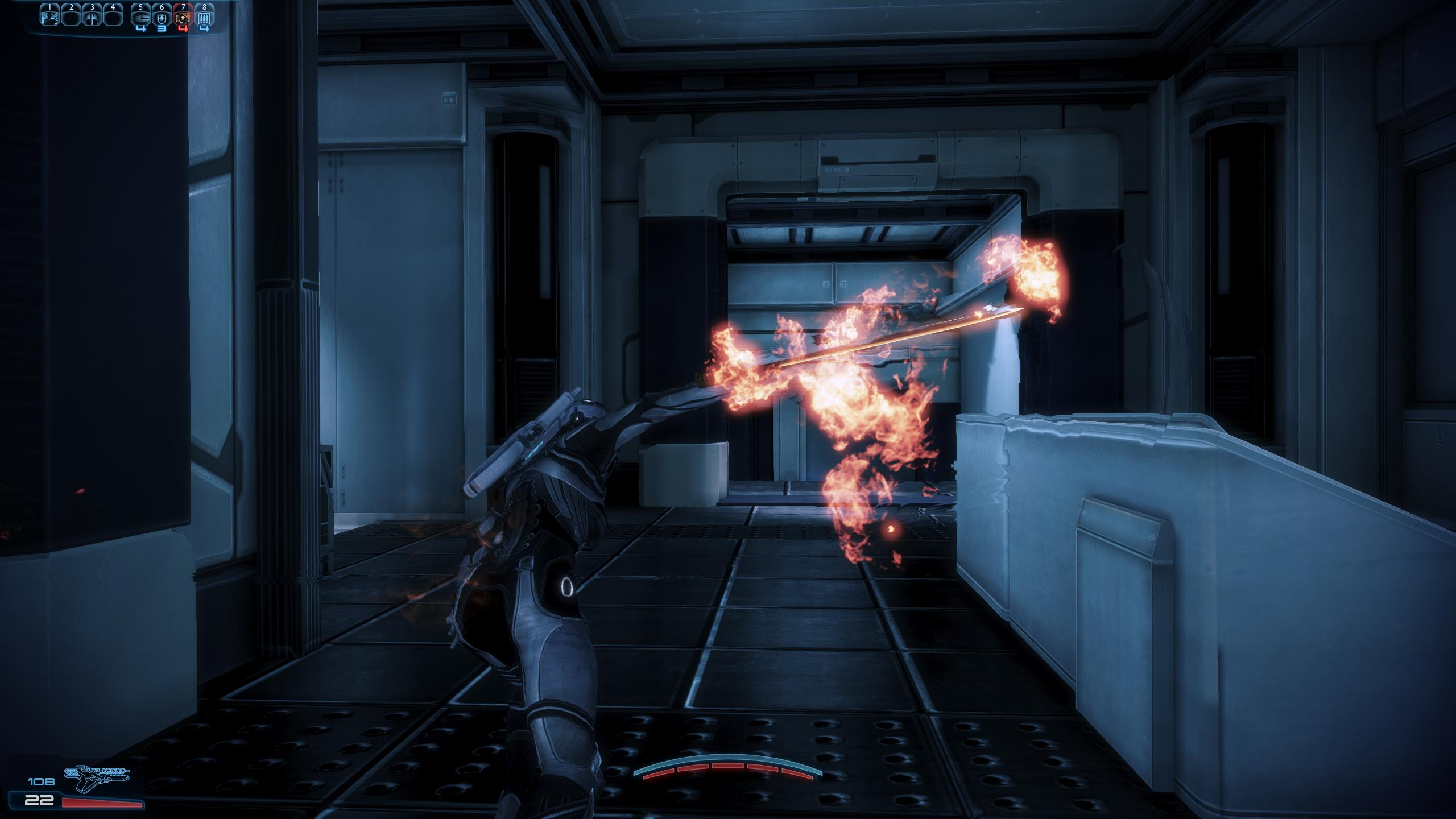 The flame sword of the N7 Shadow Infiltrator just looks cool.