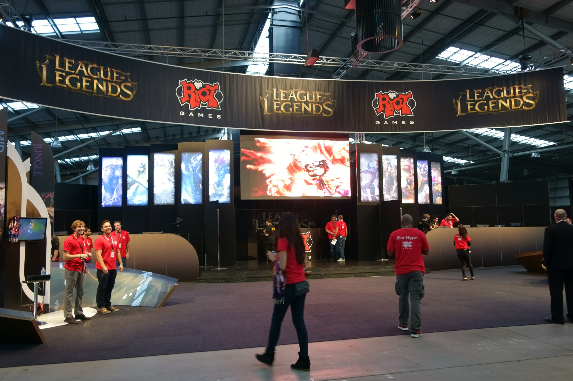 The League of Legends exhibit was never this empty again (this was taken before general admission)