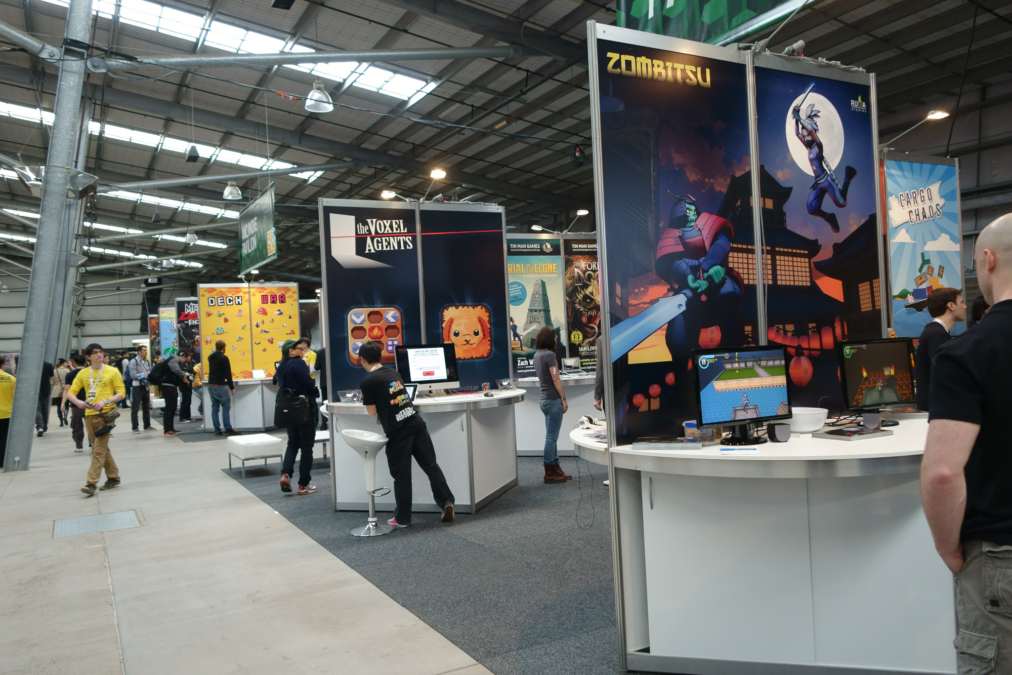 A shot of the indie pavilion before general admission