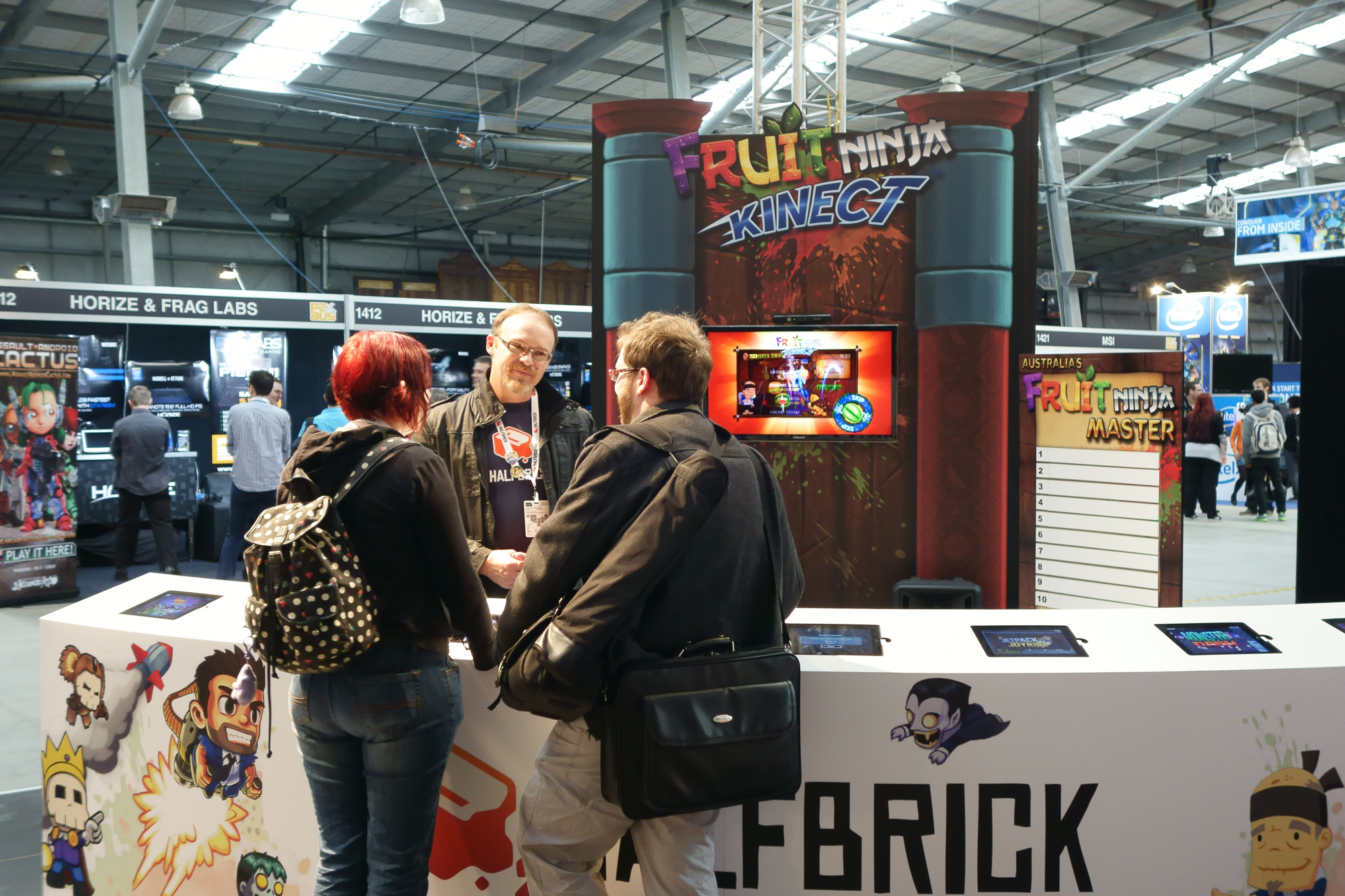 It should come as no surprise that Halfbrick's Fruit Ninja Kinect was always popular. I do feel for those poor iPads, though