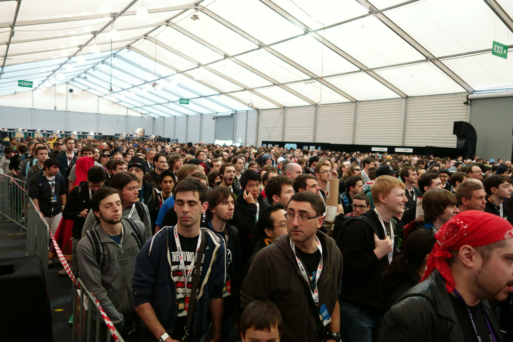 To be fair, this was the queue to get into PAX on the second day, not a queue for a panel