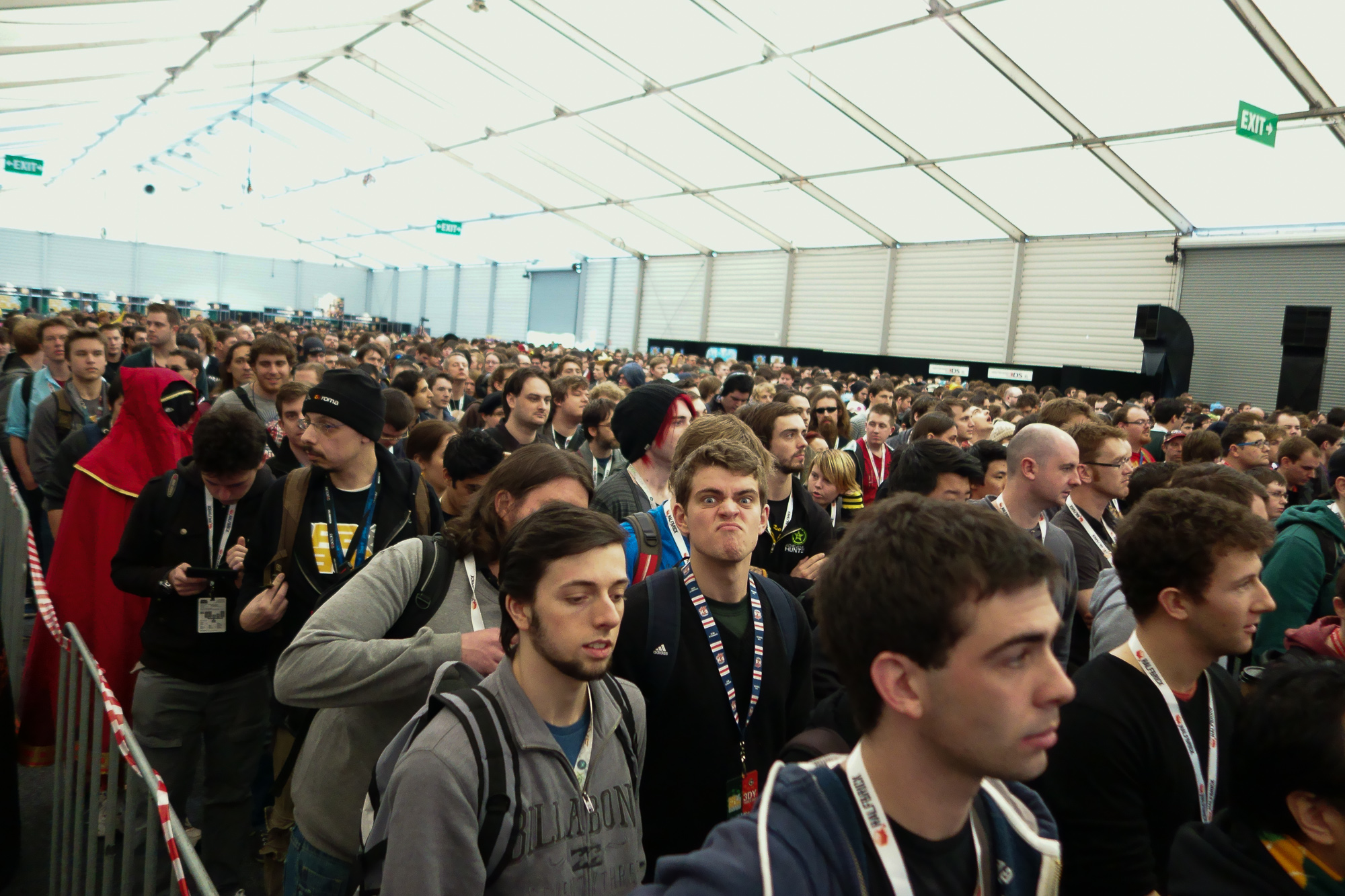 The Queue Room before the masses were admitted on the Saturday
