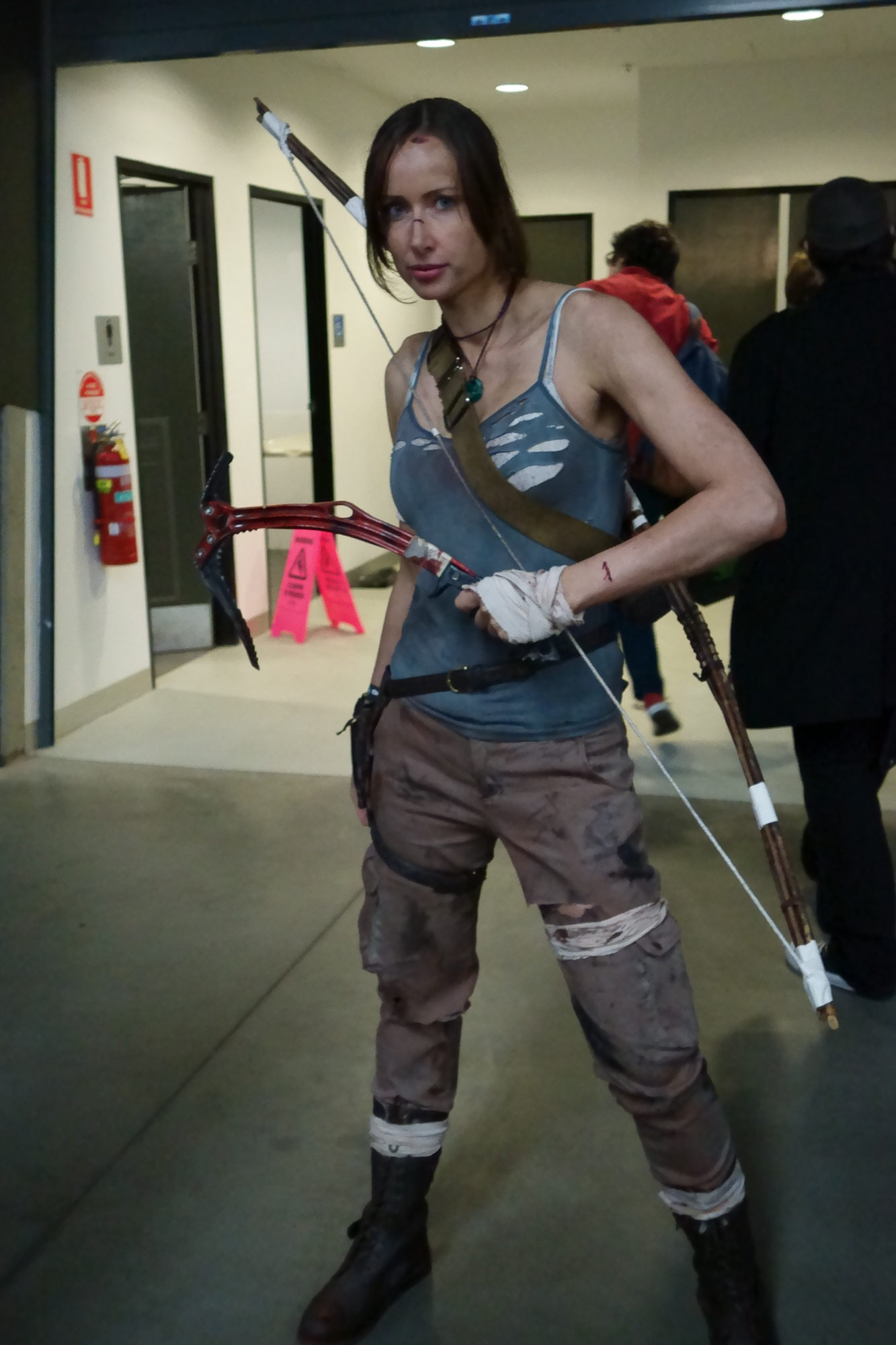 Lara Croft/Tomb Raider cosplay. The 2013 reboot, of course.
