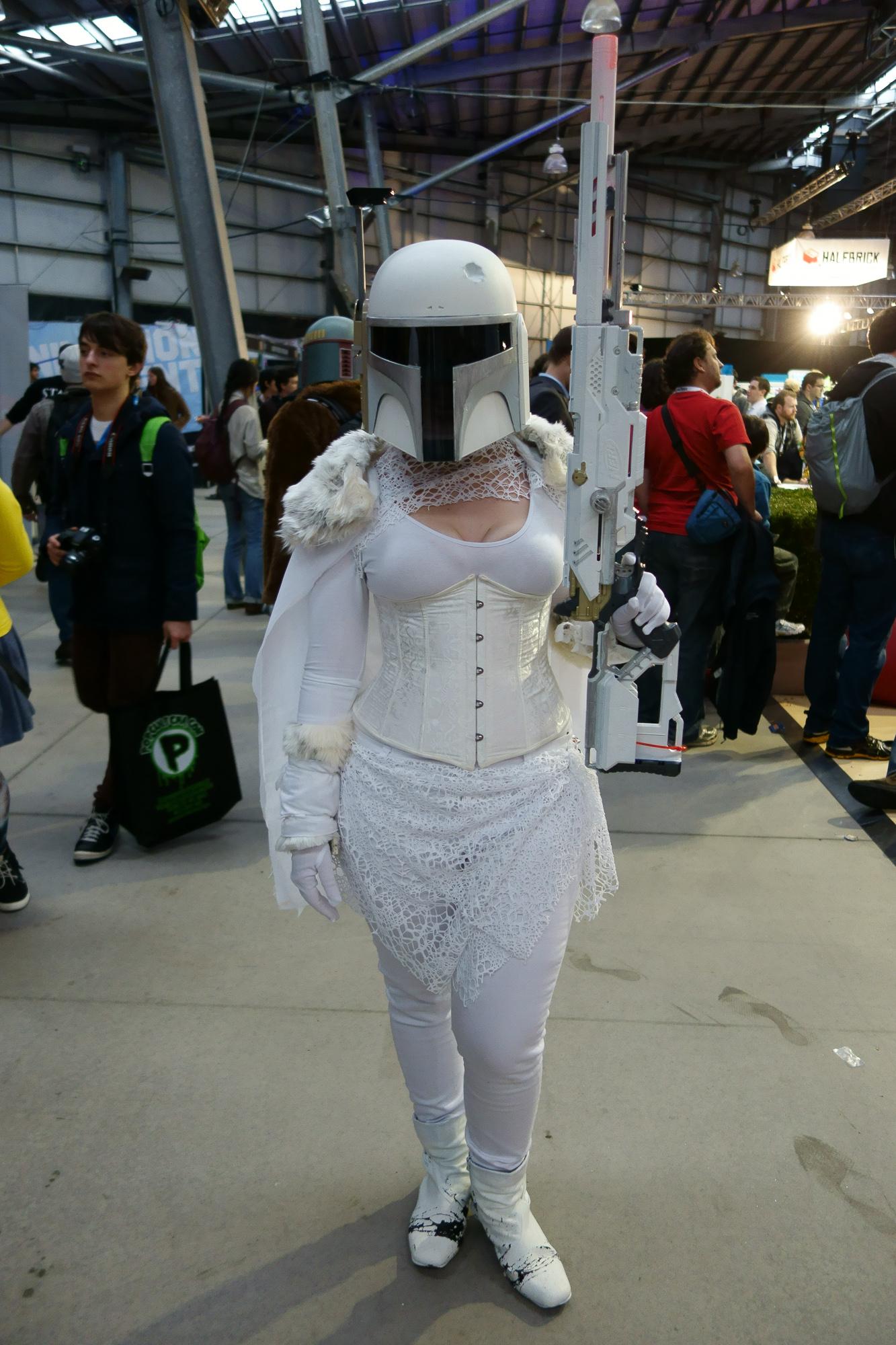 Sexy Stormtrooper? Love the custom paint job on that Longstrike, though!