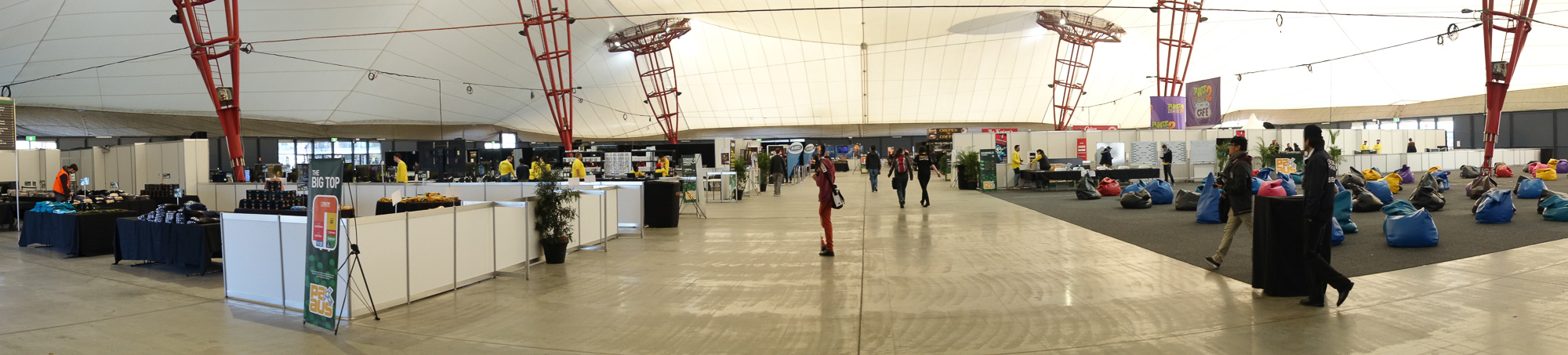 And wrapping it up: a pano of the big top. Before general admission.
