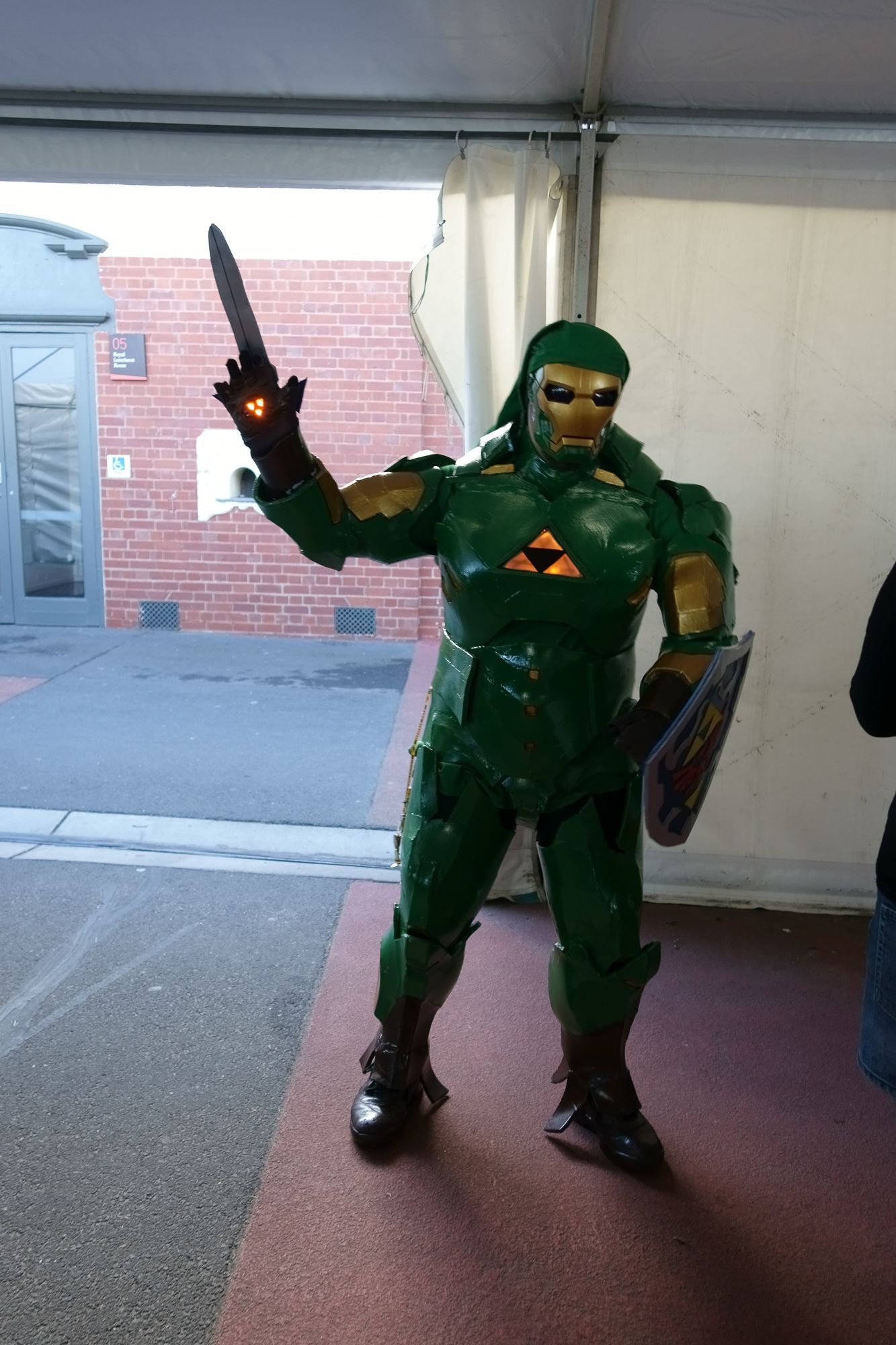 And the prize for best cosplay goes to this guy, who combined Link with Iron Man