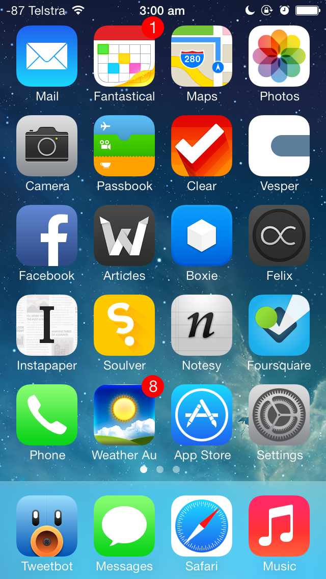 iphone 5 ios 7 home screen