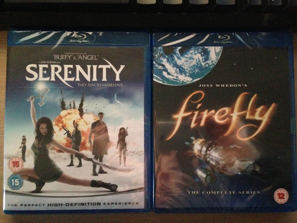serenity and firefly blurays