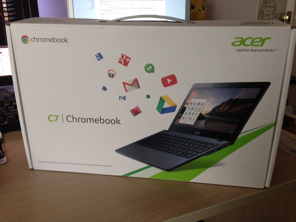 Acer C720 Chromebook box