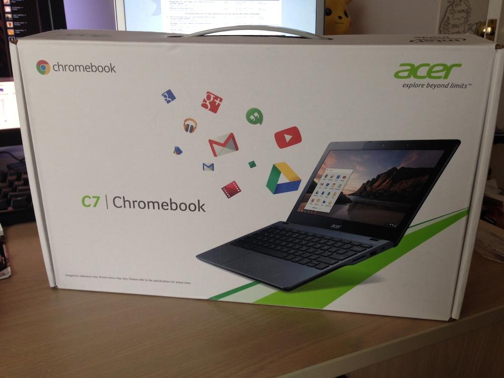 Acer C720 Chromebook box