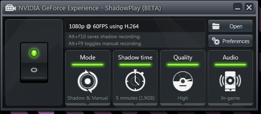 shadowplay settings