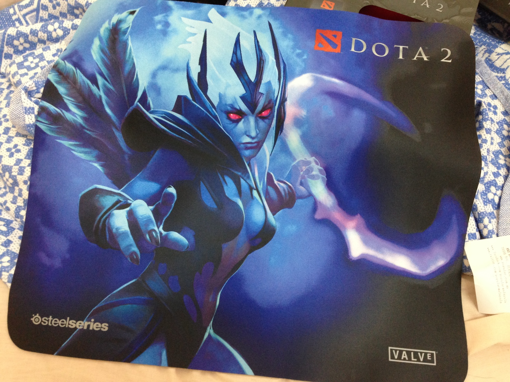 I've been playing a lot of Vengeful Spirit lately, and I saw this along with the SteelSeries Kana mouse. Had to have it.
