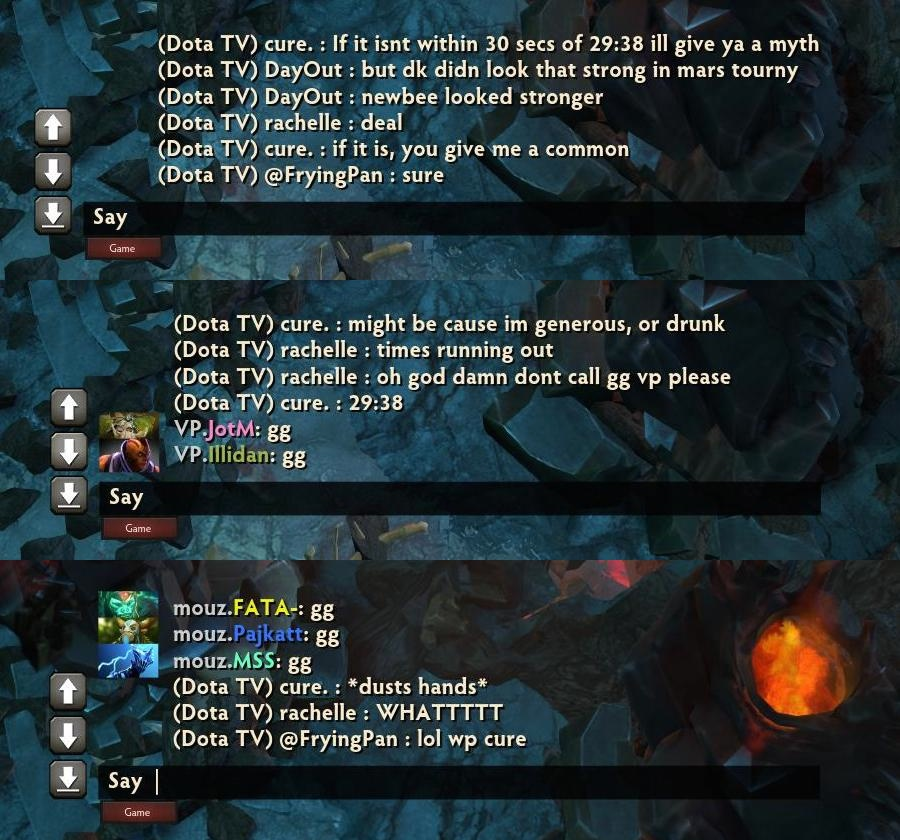 In this thread: dude picks the exact time, down to the second, when the Mouz vs VP match ends. Full size here: 1, 2, 3
