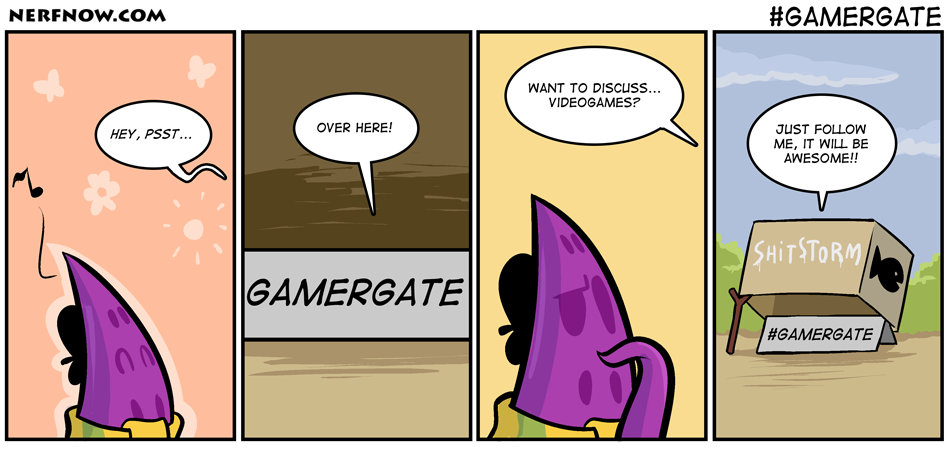 Gamergate comic via NerfNow
