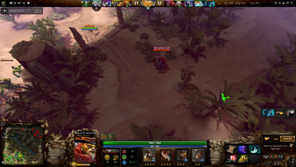I can unequivocally say that this was not the play required. Even though I had uphill vision of the Lion, there was an Invoker there which did his usual combo and destroyed me, and my team that followed me in.
