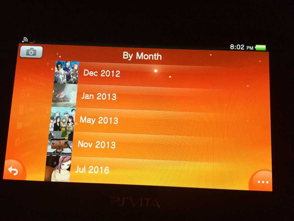 It's been two and half years since I last played my Vita. Bonus points if you can name the games.