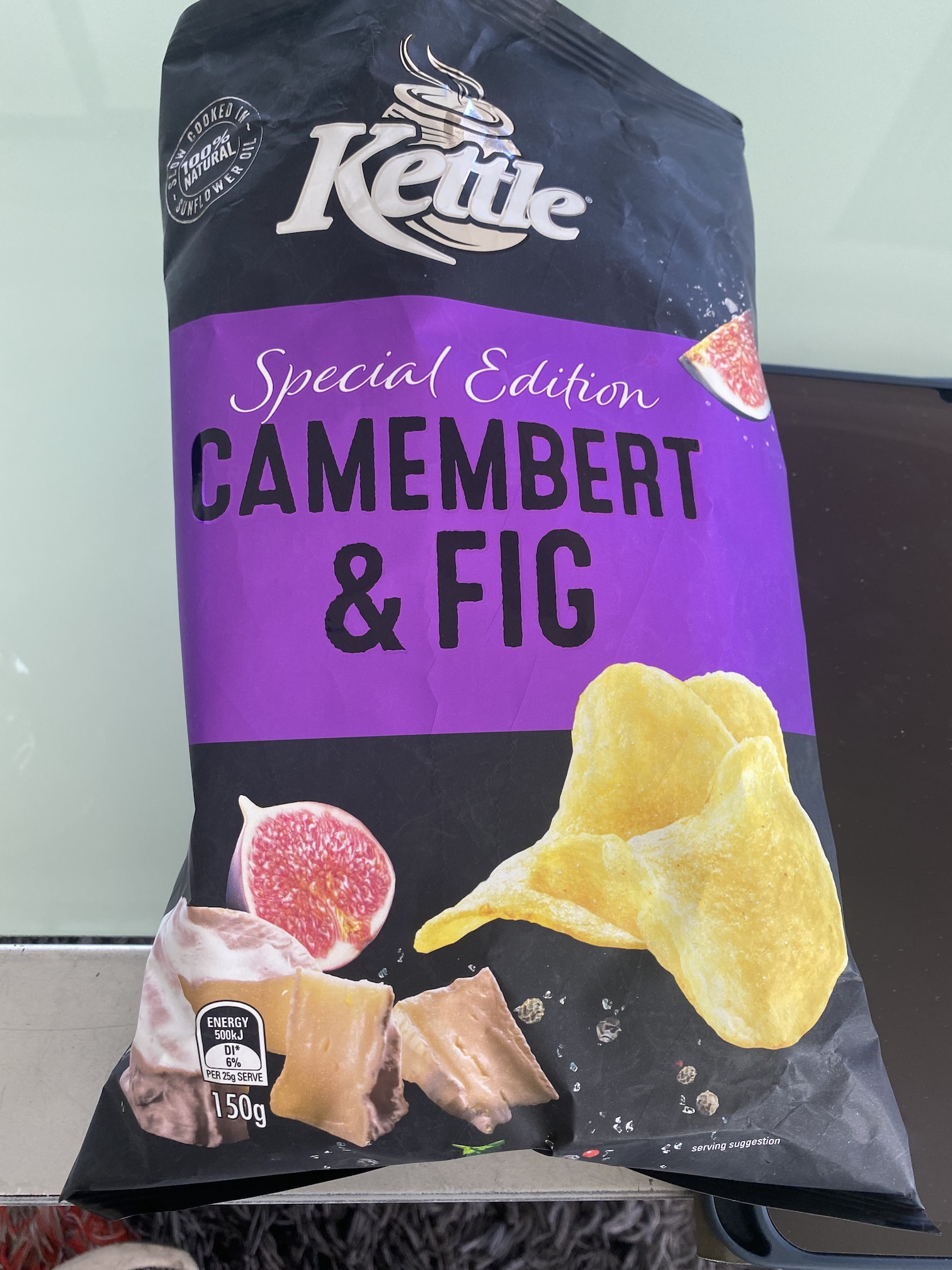 Kettle special edition camembert and fig